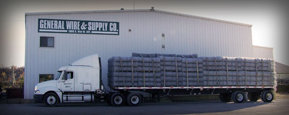 General Wire & Supply Company Building and Loaded Truck